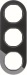 Berker R.Classic Kombinationsram Glas/Svart