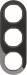 Berker R.Classic Kombinationsram Plast/Svart