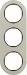 Berker R.Classic Kombinationsram Stål/Svart