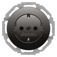 Berker R.Classic Vägguttag 1-V Jordat 45° Snabbanslutning