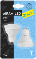 Airam LED GU10 2-pack 5w 36° 2800k 350lm 800cd 12000h