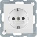Berker S.1/B.3/B.7 1-v�gsuttag med LED