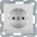 Berker S.1/B.3/B.7 1-vägsuttag med LED