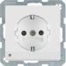 Berker Q.1/Q.3 1-vägsuttag med LED