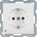 Berker Q.1/Q.3 1-v�gsuttag med LED