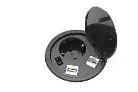 PowerPort 80mm Sl�t med USB och CAT6