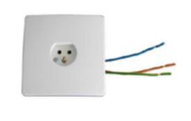 Lamputtag för vägg inkl. kabel