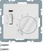 Berker Q.1/Q.3 Rumstermostat 24V NC-kontakt