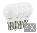 Airam LED Klot E14 4-pack 3,5W/5,5W