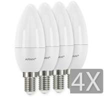 Airam LED Kron E14 4-pack 3,5W/5,5W