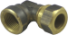 Klämringskoppling vinkel koppar-inv gg Mässing