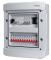 Rogy Central IP65 2-radig 24 moduler Inkl. Rökfärgad dörr