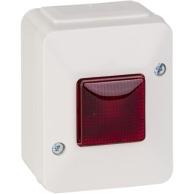 Aqua Stark Prallelltryckknapp 1-pol med lampa
