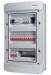 Rogy Central IP65 3-radig 36 moduler Inkl. Rökfärgad dörr