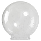 Glasglob Ø250/100mm klar med luftblåsor