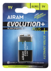 Airam 9V Batteri 6LR61 Evolution+