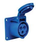 Paneluttag CEE 216-6 230V 16A IP44 Skruvanslutning