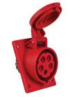 CEE Paneluttag 416-6 IP44 Lutande