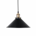 Pendel lampa Svart med mässingshållare E27