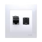 Kontakt Simon 54 Premium Modularuttag 2xKat6