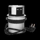 Bordsmodul med 3st 1-vägsuttag och USB laddare