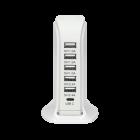 Laddstation USB 6-vägs 1,5m kabel