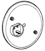 Armaturdoslock 1-vägs infällda runda, för äldre takdosor